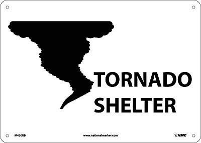 Tornado Sign (W/Graphic), 10X14, Rigid Plastic