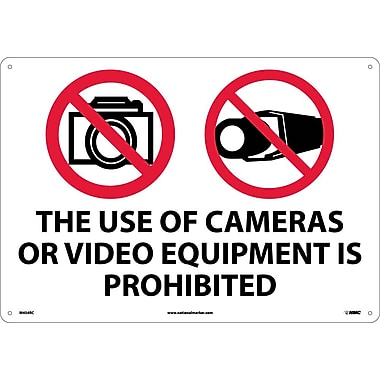 The Use Of Cameras Or Video Equipment Is Prohibited, 14X20, Rigid Plastic