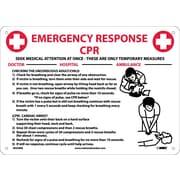 "CPR Emergency Response, 10"" x 14"", Rigid Plastic"
