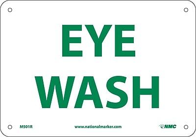 Eye Wash, 7X10, Rigid Plastic