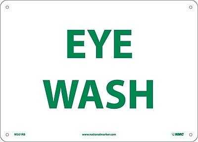 Eye Wash, 10X14, Rigid Plastic