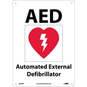 Aed (With Graphic), 10X14, Rigid Plastic