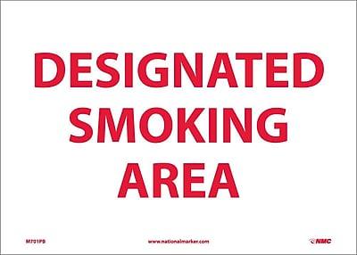 Designated Smoking Area, 10X14, Adhesive Vinyl