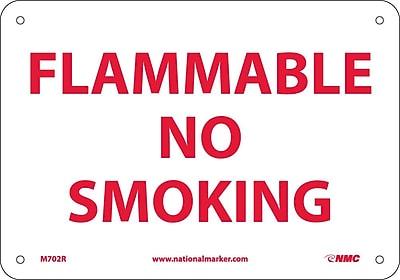 Flammable No Smoking, 7X10, Rigid Plastic