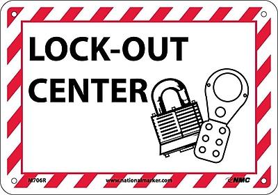 Lock-Out Center (W/Graphic), 7X10, Rigid Plastic