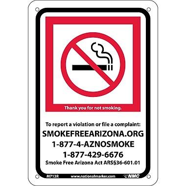 Arizona No Smoking, 7X10, Rigid