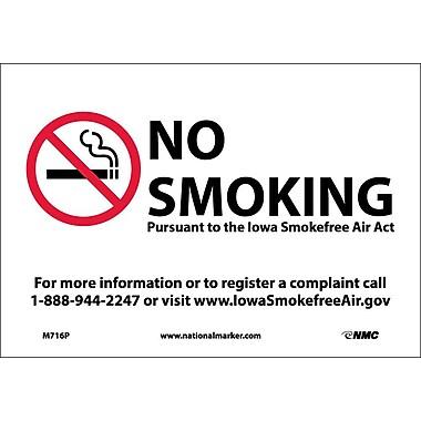 Iowa No Smoking (Graphic), 7X10, Adhesive Vinyl