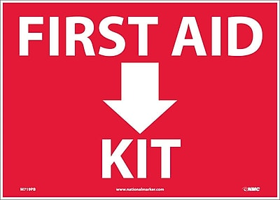 First Aid (Arrow) Kit, 10X14, Adhesive Vinyl