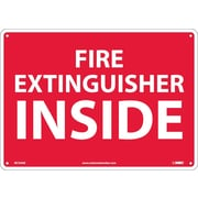 "Fire Extinguisher Inside, 10"" x 14"", .040 Aluminum"
