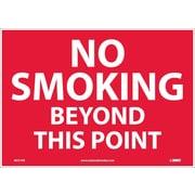 No Smoking Beyond This Point, 10X14, Adhesive Vinyl