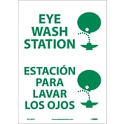 Eye Wash Station (Graphic), Bilingual, 14X10, Adhesive Vinyl