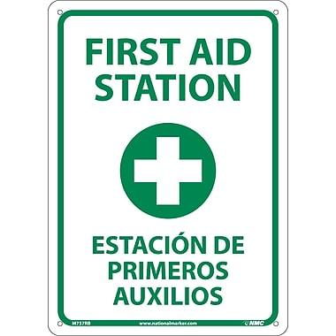 First Aid Station (Graphic), Bilingual, 14X10, Rigid Plastic