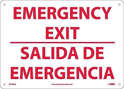 Emergency Exit, Bilingual, 10X14, .040 Aluminum