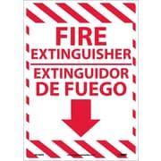 Fire Extinguisher, Bilingual, 14X10, Adhesive Vinyl