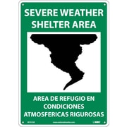 Severe Weather Shelter Area (Graphic), Bilingual, 14X10, .040 Aluminum