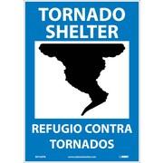 Tornado Shelter (Graphic), Bilingual, 14X10, Adhesive Vinyl