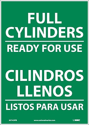 Full Cylinders Ready For Use, Bilingual, 14X10, Adhesive Vinyl