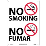 No Smoking (Graphic), Bilingual, 14X10, .040 Aluminum