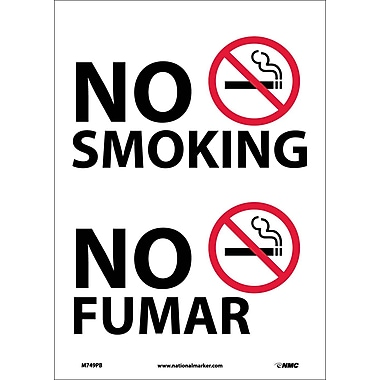 No Smoking (Graphic, Bilingual, 14X10, Adhesive Vinyl
