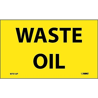 Labels -Waste Oil, 3