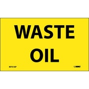 Labels -Waste Oil, 3X5, Adhesive Vinyl 5/Pk