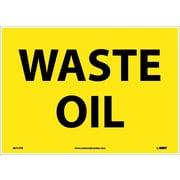 Waste Oil, 10X14, Adhesive Vinyl