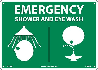 Emergency Shower & Eye (Graphics), 10X14, .040 Aluminum