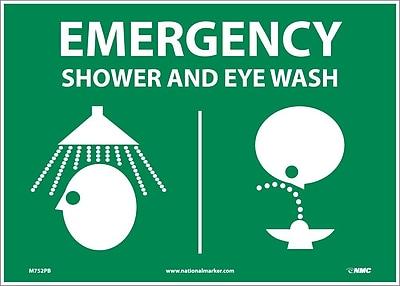 Emergency Shower & Eye (Graphics), 10X14, Adhesive Vinyl