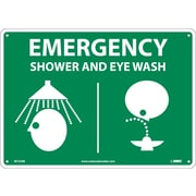 "Emergency Shower & Eye Graphics, 10"" x 14"", Rigid Plastic"