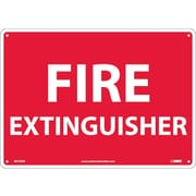 Fire Extinguisher, 10X14, Rigid Plastic