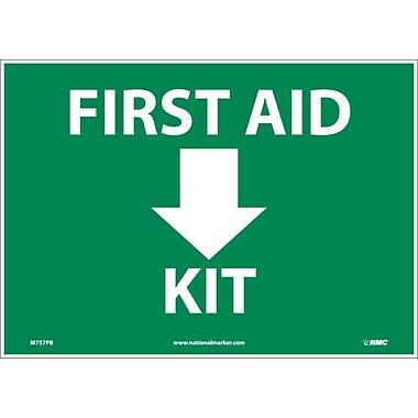 Panneau First Aid Kit avec flèche, 10 x 14 po, vinyle adhésif
