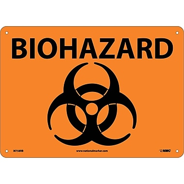 Biohazard Symbol 10 X 14 Rigid Plastic Staples