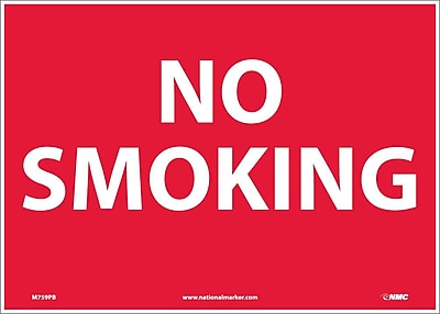 No Smoking, 10X14, Adhesive Vinyl