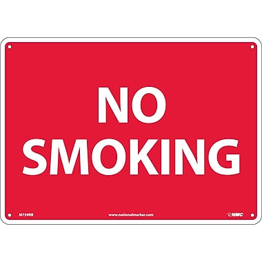 No Smoking, 10X14, Rigid Plastic