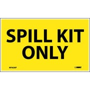 Labels -Spill Kit Only, 3X5, Adhesive Vinyl, 5/Pk