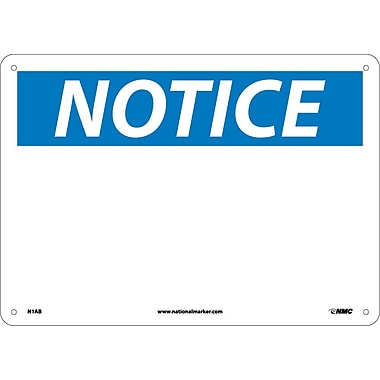 Notice, (Heading Only), 10X14, .040 Aluminum