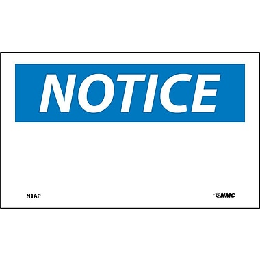 Labels Notice, Blank, 3