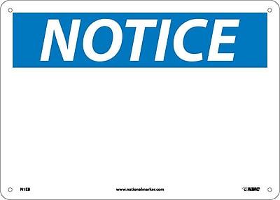 Notice, (No Legend), 10X14, Fiberglass
