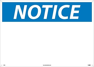 Notice, Blank, 20X28, Rigid Plastic