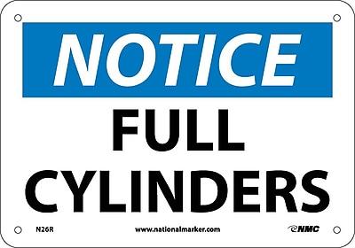 Notice, Full Cylinders, 7X10, Rigid Plastic