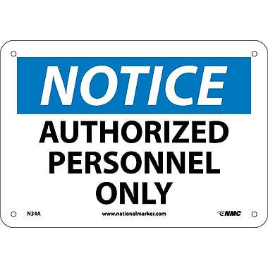Notice, Authorized Personnel Only, 7