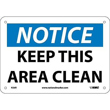 Notice, Keep This Area Clean, 7