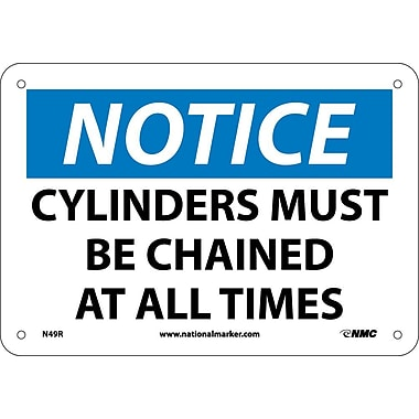 Notice, Cylinders Must Be Chained At All Times, 7