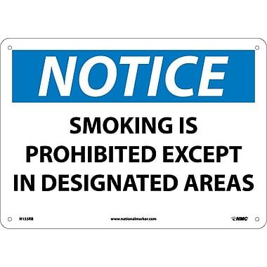 Notice, Smoking Is Prohibited Except In Designated Areas, 10