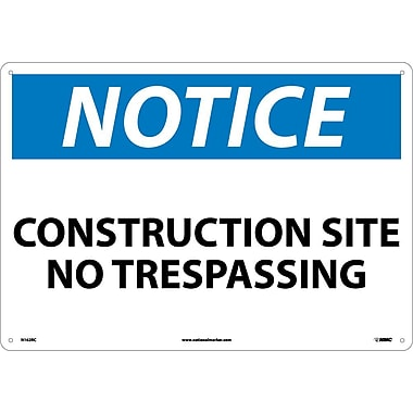 Notice, Construction Site No Trespassing, 14