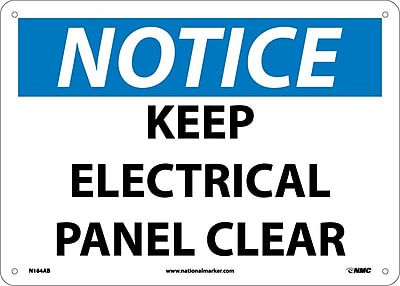 Notice, Keep Electrical Panel Clear, 10X14, .040 Aluminum