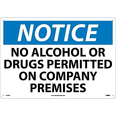 Notice, No Alcohol Or Drugs Permitted On Company Premises, 14
