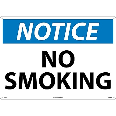 Notice, No Smoking, 20X28, .040 Aluminum