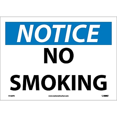 Notice, No Smoking, 10X14, Adhesive Vinyl