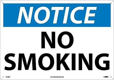 Notice, No Smoking, 14X20, Rigid Plastic